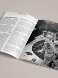 Intérieur de pages du jeu de rôle CRIMES