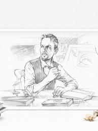 Mise en situation du portrait de Yann Lefebvre pour CRIMES