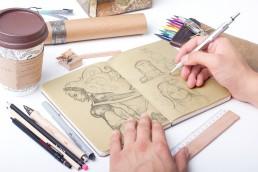 sketches carnet de croquis