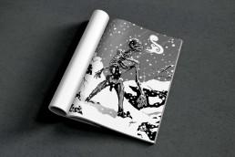 illustrations noir et blanc bifrost