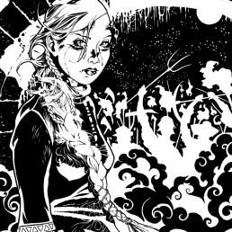 illustration jeune fille slave