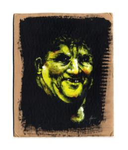 Portrait réalisé à la peinture