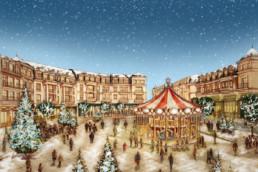 Illustration de Noël pour la mairie de L'Häy-les-Roses