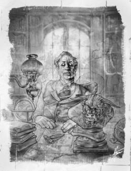 Minotaure illustration pour JDR Crimes