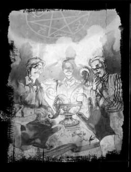 Occultiste illustration pour JDR Crimes Paris