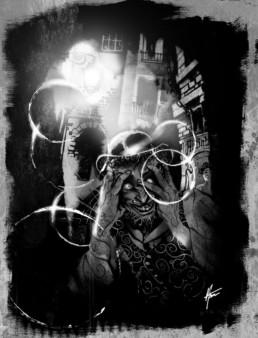 Psychotique illustration pour JDR Crimes Paris