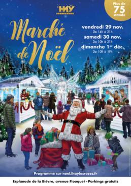 Illustration du marché de Noël pour la mairie de L'Häy-les-Roses