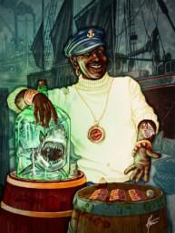 Illustration couleurs du Loas Agwe pour le livre univers Mississippi de Christophe Gérard, Tirodem