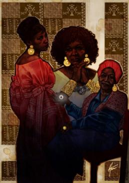 Illustration couleurs d'Ayida pour le livre univers Mississippi de Christophe Gérard, Tirodem