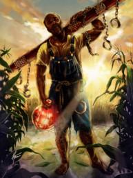 Illustration couleurs du Loas Azaka pour le livre univers Mississippi de Christophe Gérard, Tirodem