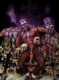 Illustration couleurs de Baron Samedi pour le livre univers Mississippi de Christophe Gérard, Tirodem
