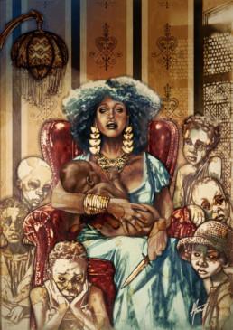 Illustration couleurs de Erzulie pour le livre univers Mississippi de Christophe Gérard, Tirodem