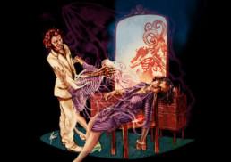 Illustration couleurs du malin pour le livre univers Mississippi de Christophe Gérard, Tirodem