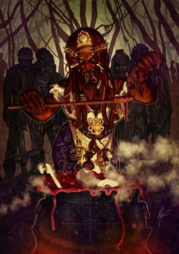 Illustration couleurs de Maman Brigitte pour le livre univers Mississippi de Christophe Gérard, Tirodem