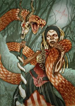 Illustration couleurs de Marinette pour le livre univers Mississippi de Christophe Gérard, Tirodem
