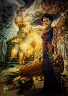 Illustration couleurs de Quinn pour le livre univers Mississippi de Christophe Gérard, Tirodem